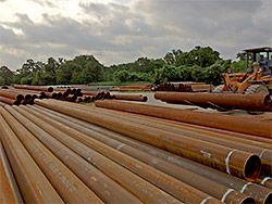 Many steel pipe sizes in stock